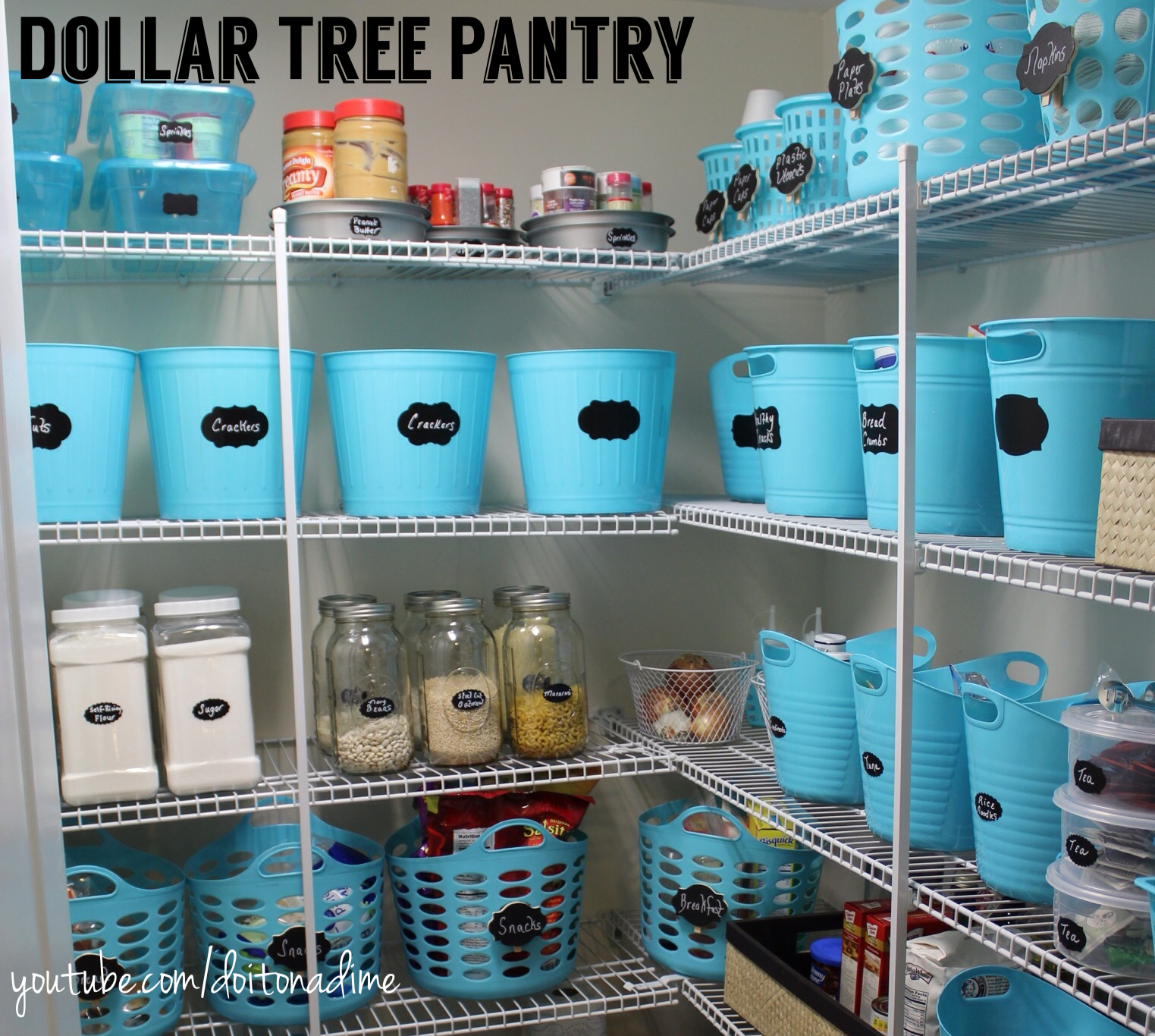 Organizing With Dollar Store Items: Pantry Organization: Dollar Tree Style