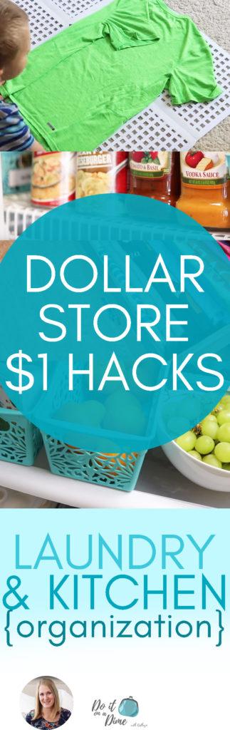 1 Dollar Store Hacks Laundry Kitchen Organization