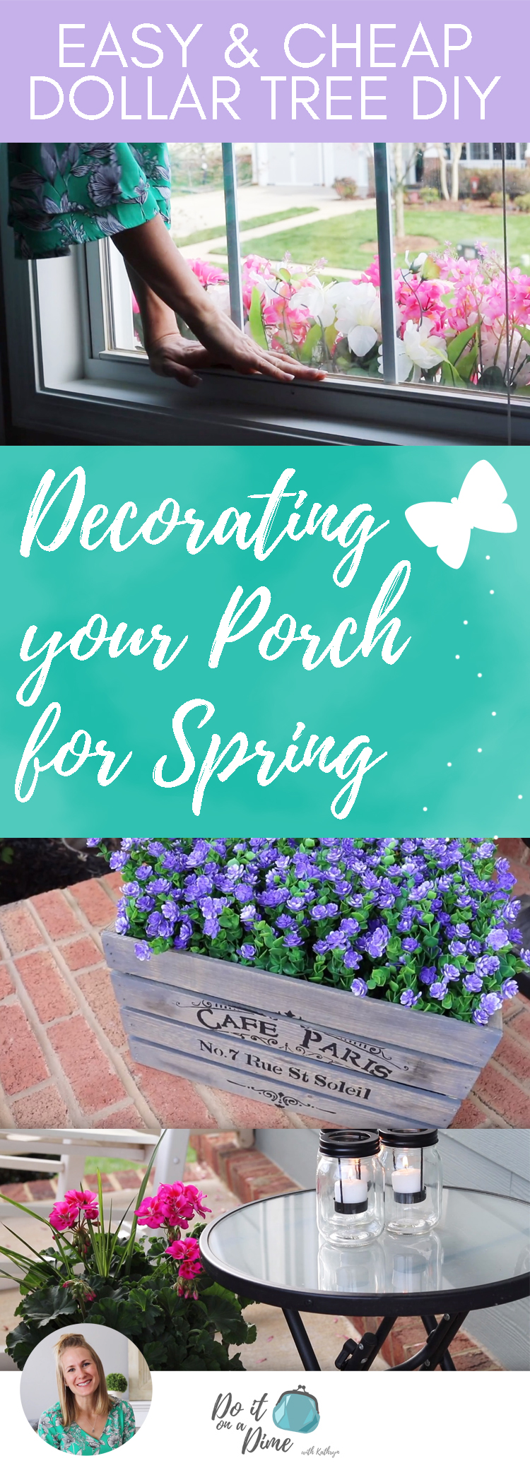Cheap Porch Decorating Ideas Dollar Tree Window Boxes